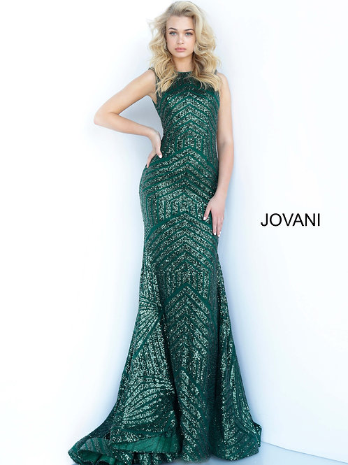 Jovani 64807 Black, Hunter Green