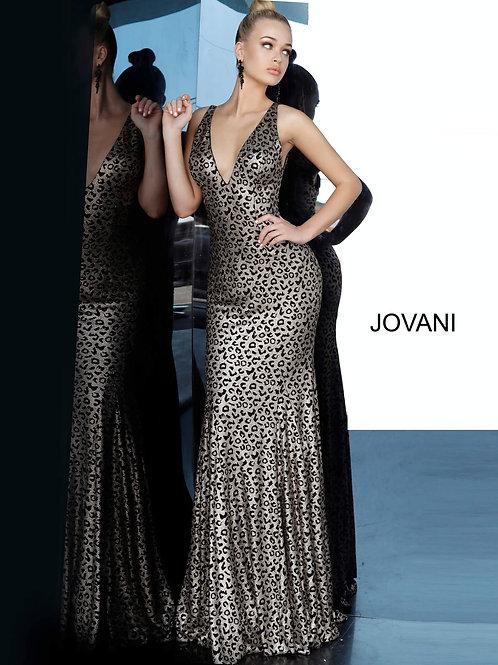 Jovani 3237 Animal Print