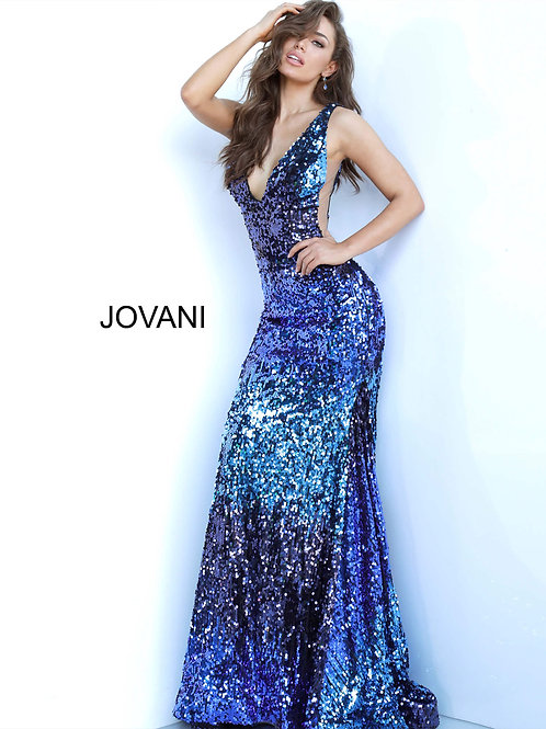 Jovani 3192 Blue/Multi