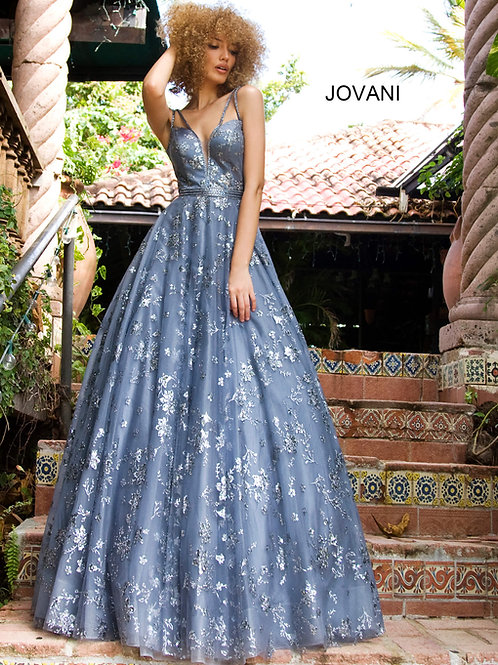 Jovani 3614 Blue/Grey