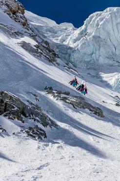 One crew - Col des Droites - Argentiere Bassin - Chamonix