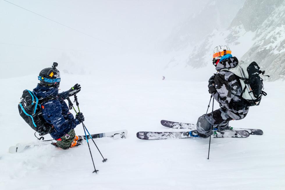 Paul-Edourd Millet, Leo Slemett, Tof Henry - Glacier Rond - Aiguille du Midi - Chamonix