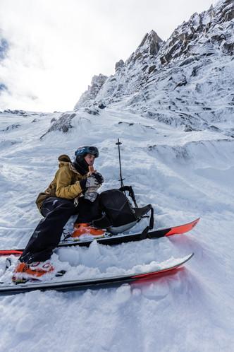 Leo Slemett - Mallory Route, Aiguille du Midi, Chamonix