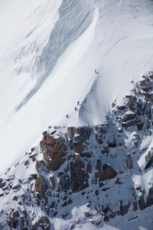 Tof Henry - Paul Edouard Millet - Matthieu Vigier - Triangle du Tacul - Aiguille du Midi - Chamonix