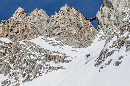 Christopher Baud - La Passerelle - Aiguille du Midi - Chamonix