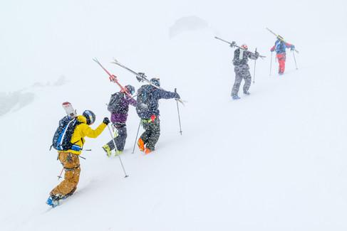 Paul-Edouard Millet, Tof Henry, Leo Slemett, Logan Pehota, Matthieu Vigier - Aiguille du Midi - Chamonix