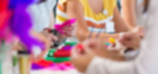 Preschool children working on STEM related activity