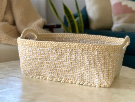 FREE Crochet Pattern- The Bondi Basket