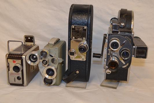 Assorted 8-16mm movie cameras