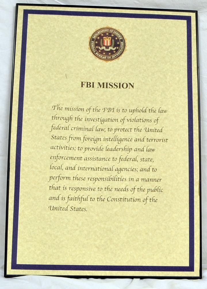 FBI Mission statement