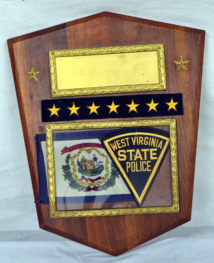 West Virginia State Police Plaque