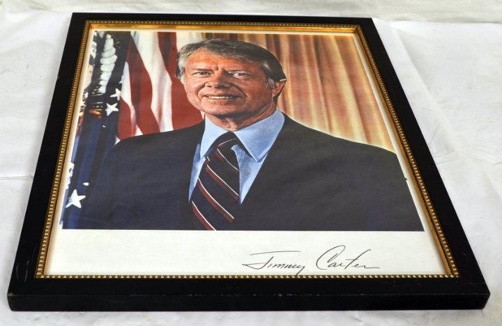 Jimmy Carter portrait signed