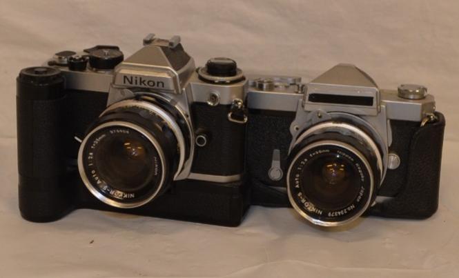 Period Nikon 35mm cameras