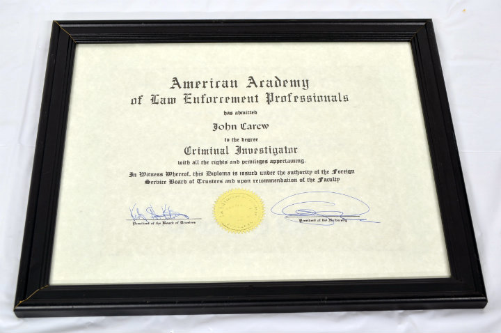 American Academy Certificate