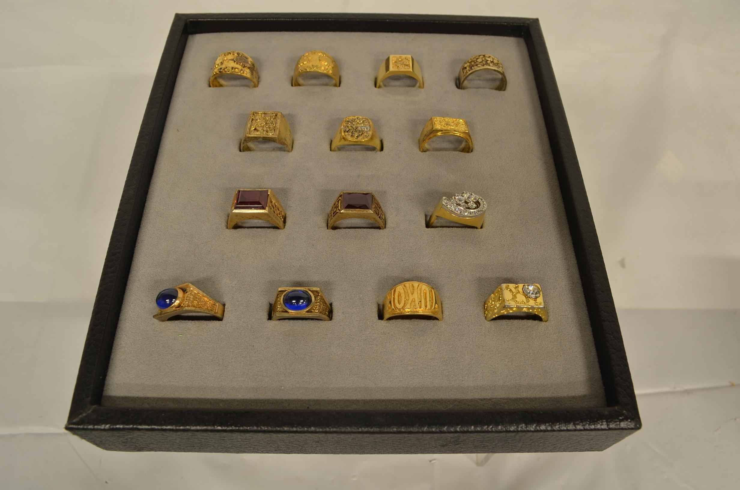Assorted mens rings
