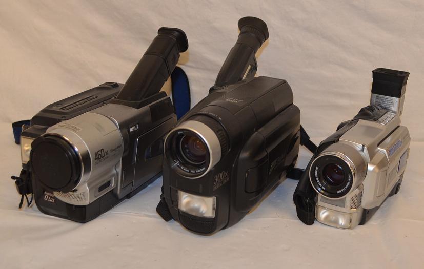 Assorted video cameras