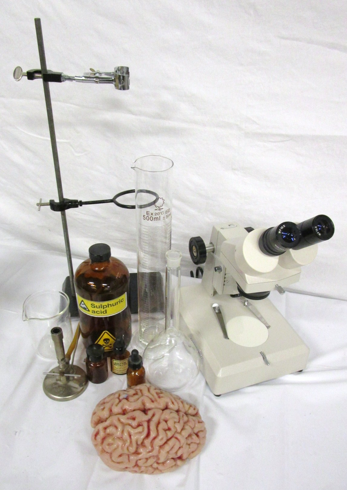Assorted scientific props