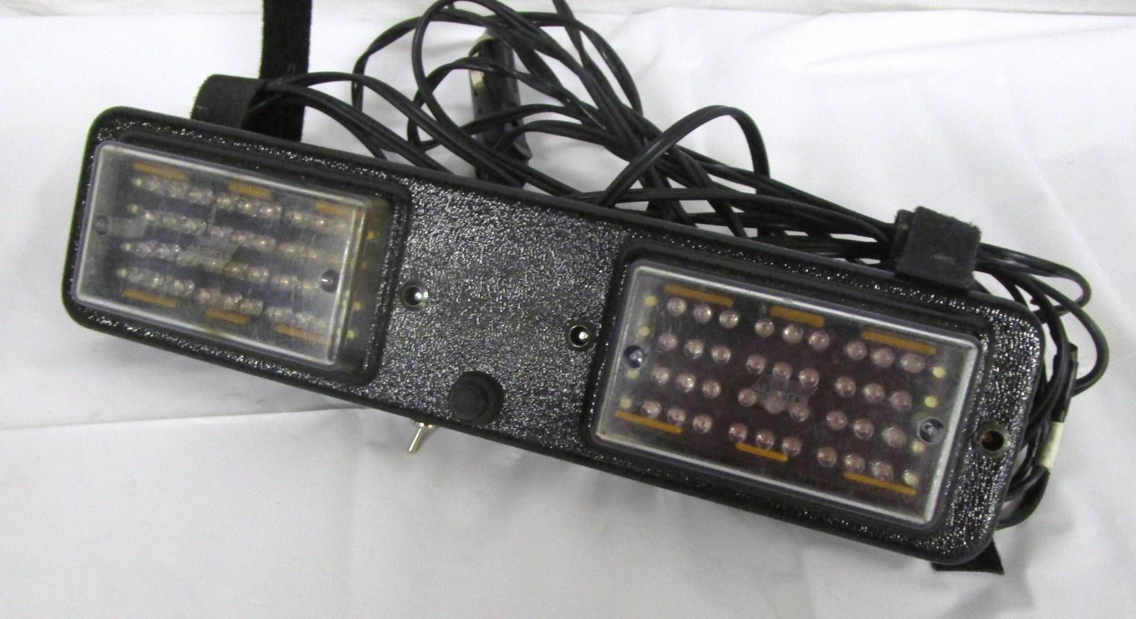 Off-camera police light