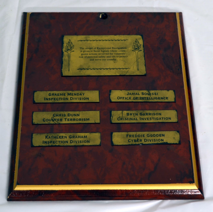 Award of Excellence Plaque