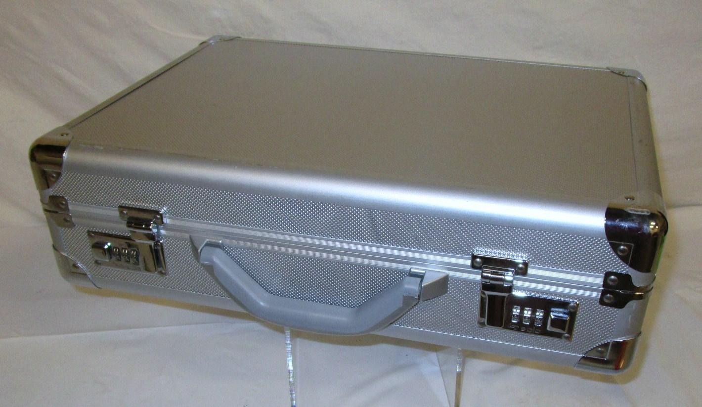 Silver metal case