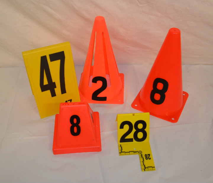 assorted evidence markers