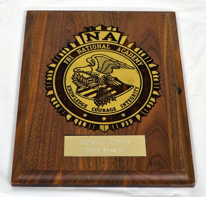 FBI Academy Plaque