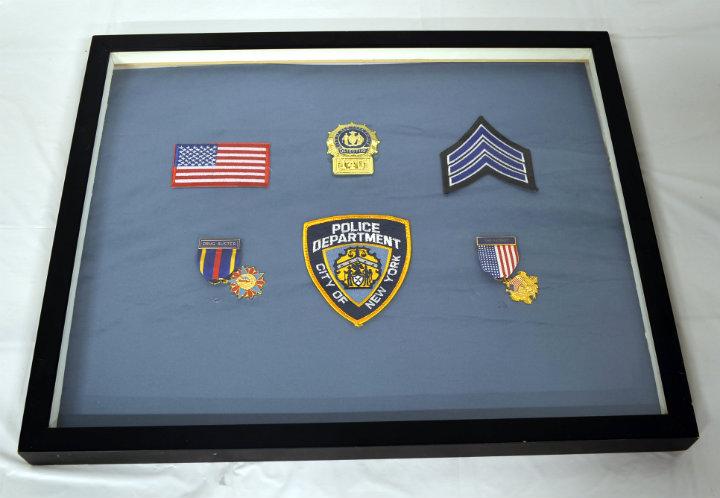 NYPD Detective Shadow box