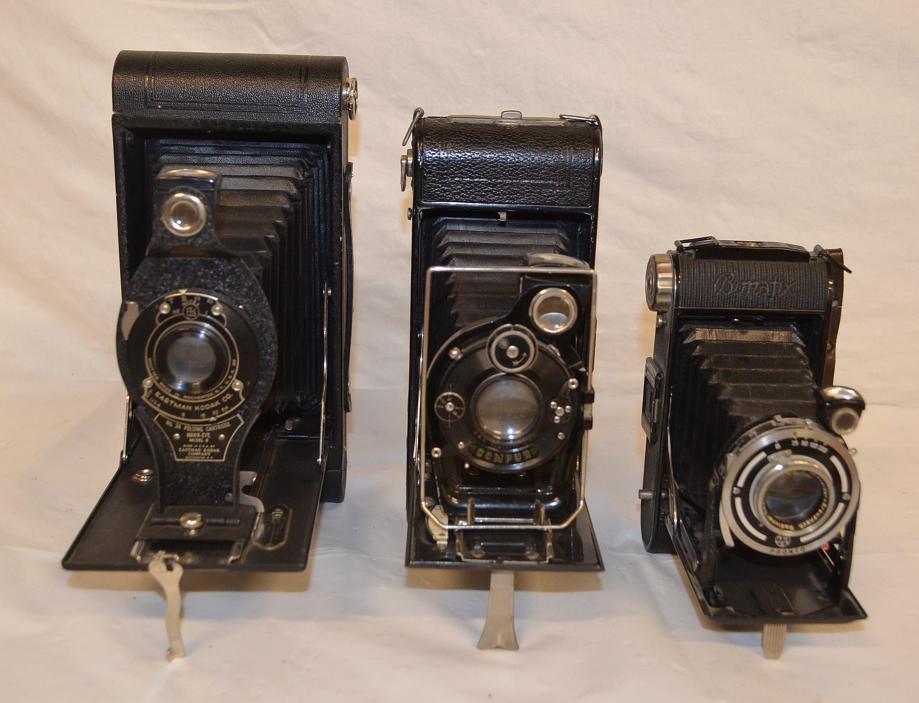 Assorted folding cameras