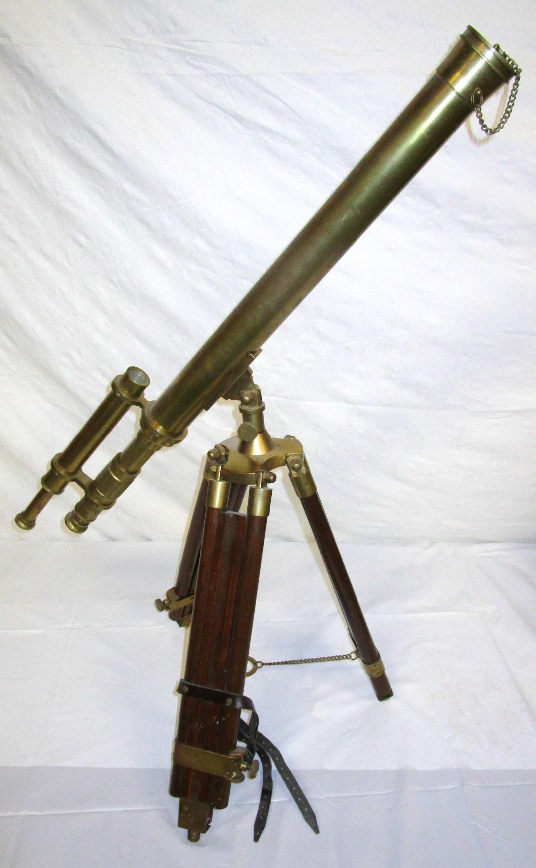 Brass telescope on tripod