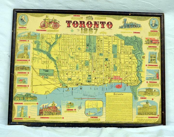 Map of Toronto 1867 Remake