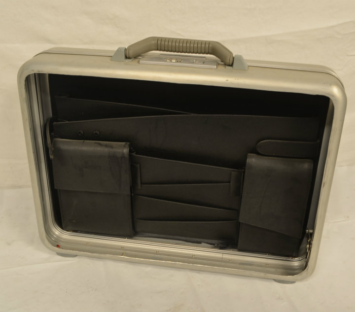 Haliburton case with exposed bottom