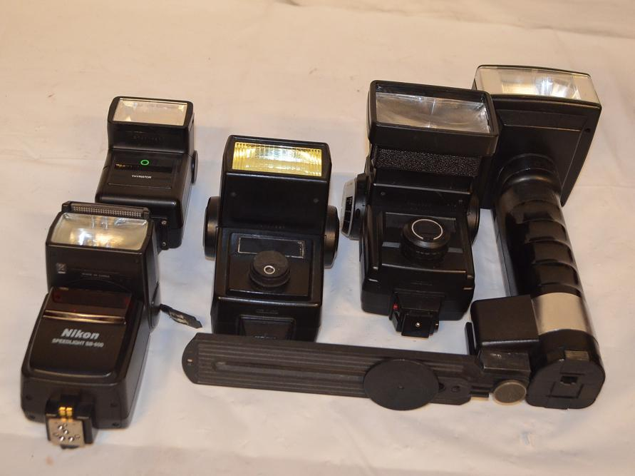 Assorted camera flashes