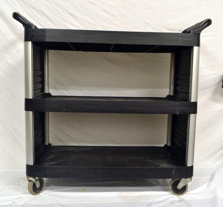 rubbermain black utility cart