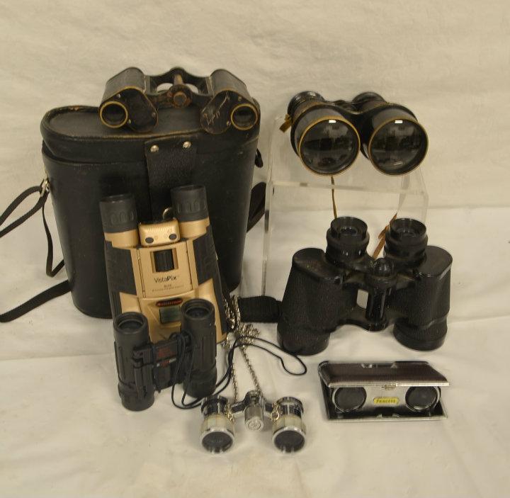 assorted binoculars