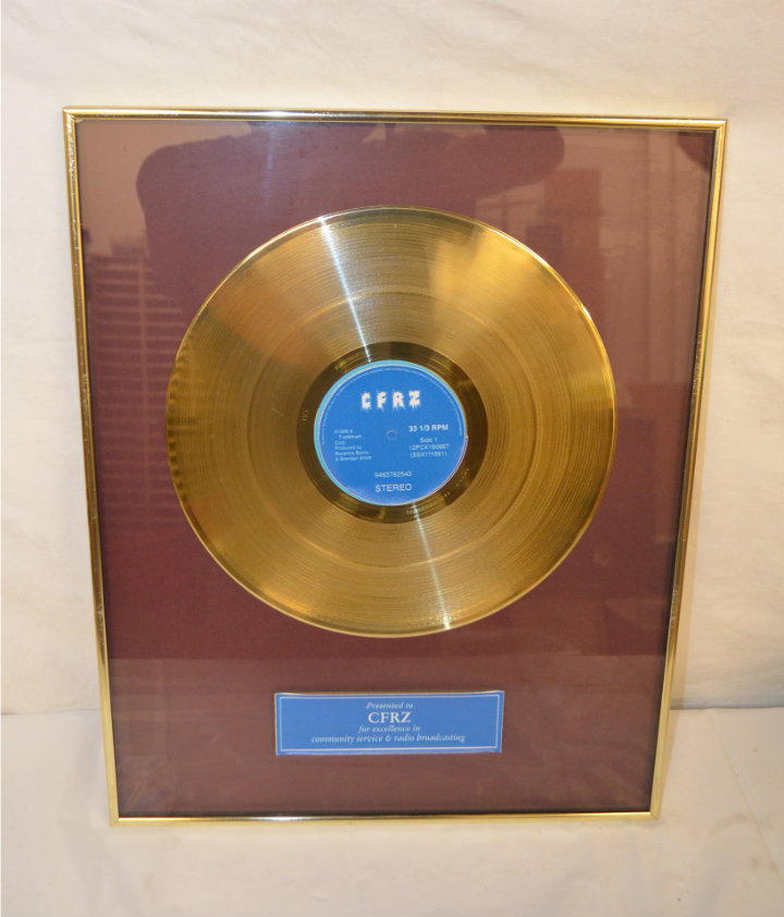 Gold record framed