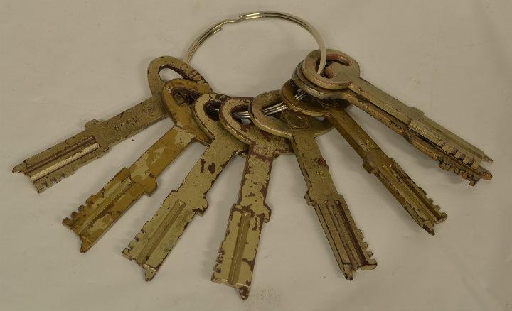 Prop jail cell keys