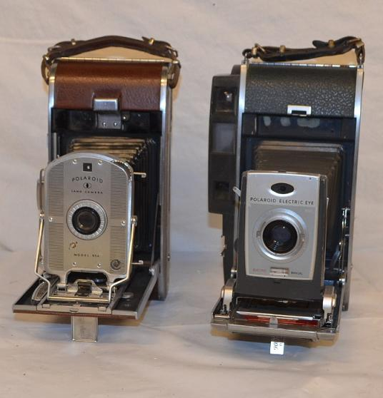 Period Polaroid Land cameras