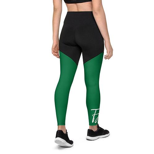 Green Envy Compression Leggings