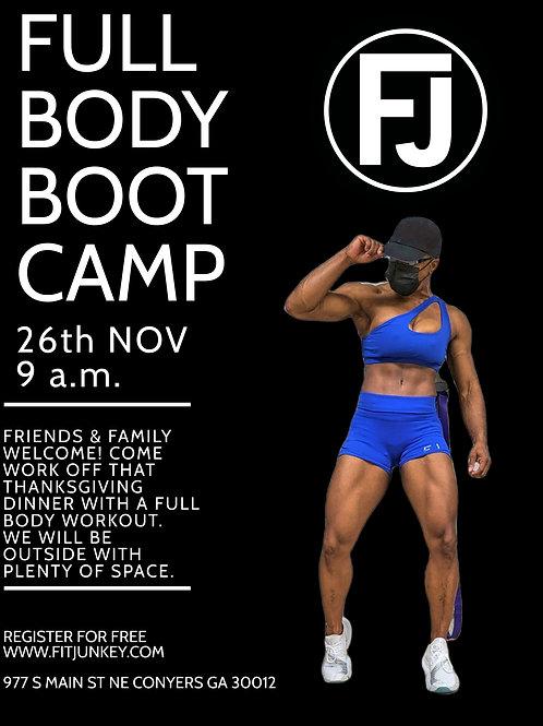 FREE FULL BODY BOOT CAMP