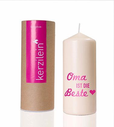 Kerzilein / Oma ist die Beste - Flamme