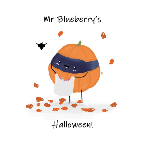 Mr Blueberry's Halloween Front Cover