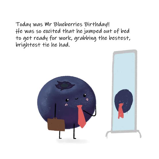 Mr Bluberry's Birthday Page 1