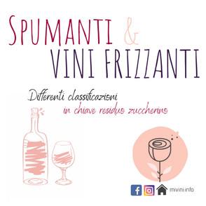 Spumanti e vini frizzanti, il residuo zuccherino in etichetta