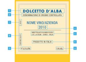 L'etichetta dei vini a Denominazione d'origine