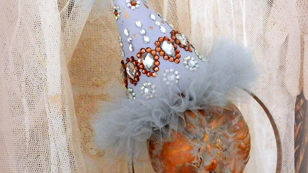 Bijoux Party Hat Headband, Grey and Lavender