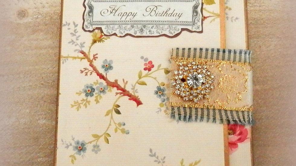 Birthday Florale 4x6 Album Card