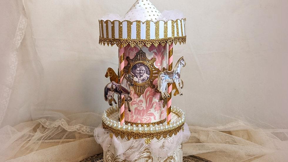 Wedding Carousel Cake Topper