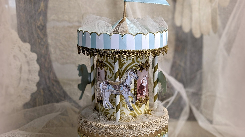 Carousel Parisienne Cake Topper