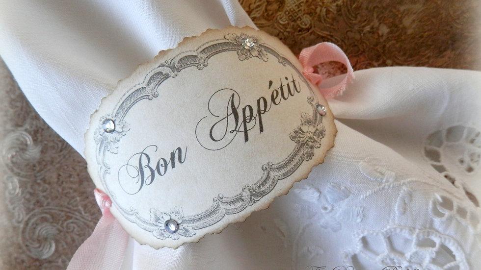 Bon Appétit Napkin Rings