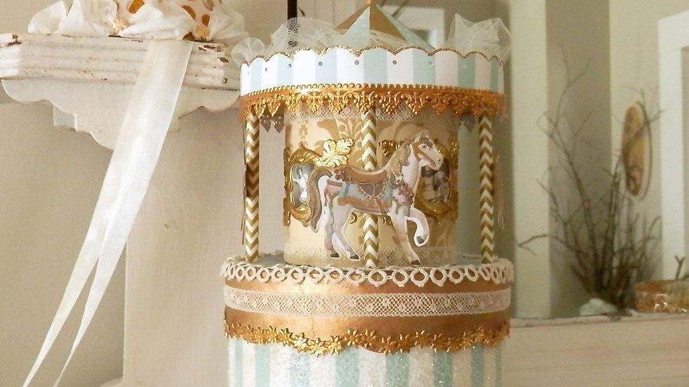 Splendid Carousel Cake Topper